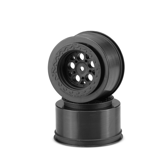 "JConcepts Coil Mambo 2.2 x 3.0"" 12mm Hex Rear Black Wheels, for Slash, Bandit, DR10 or Street Eliminator Cars JCO3409B"