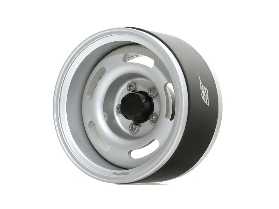 "Boom Racing ProBuild™ 1.9"" Jelly Bean Adjustable Offset Aluminum Beadlock Wheels (2) Flat Silver/Flat Silver BRPB026RSRS"