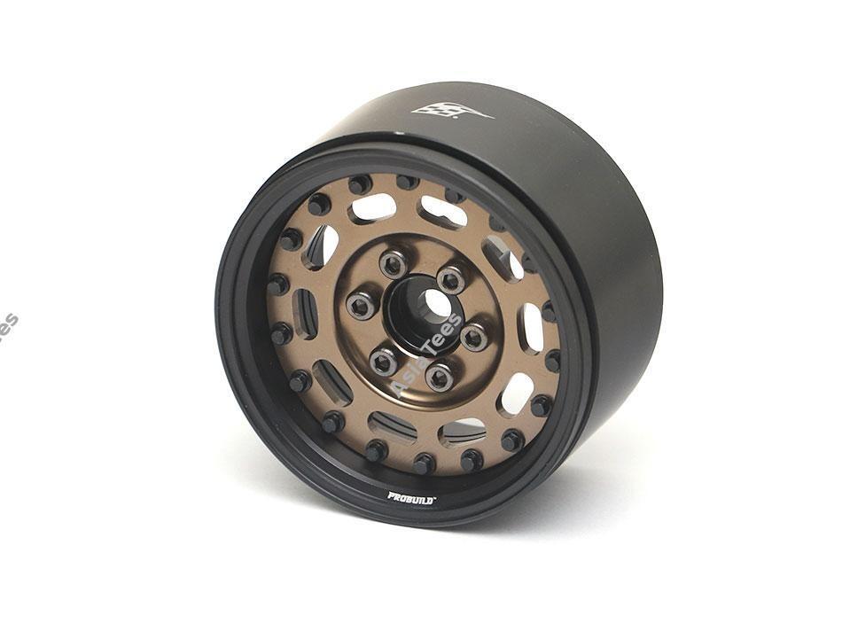 """Boom Racing ProBuild™ 1.9"""" MAG-10 Adjustable Offset Aluminum Beadlock Wheels (2) Matte Black/Bronze BRPB006MBKBZ"""