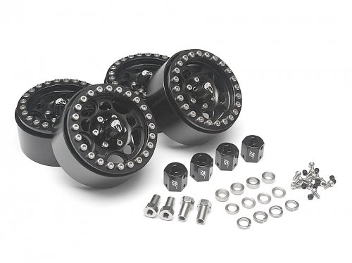 Boom Racing Sandstorm KRAIT™ 1.9 Aluminum Beadlock Wheels with 8mm Wideners (4) Black BRW780901BK