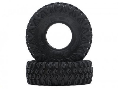 "Boom Racing HUSTLER M/T Xtreme 1.55"" BABY Rock Crawling Tires 3.74x1.3 SNAIL SLIME™ Compound W/ Open Cell Foams (Super Soft) BRTR15502"