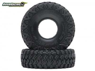 "Boom Racing HUSTLER M/T Xtreme 1.55"" MC1 Rock Crawling Tires 4.19x1.38 SNAIL SLIME™ Compound W/ 2-Stage Foams (Super Soft) BRTR15503"