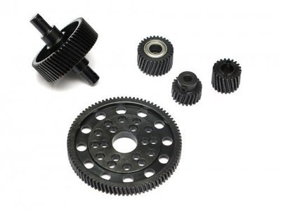 Boom Racing Heavy Steel Helical Pineapple Gear Set For Axial SCX10 BRQ32119