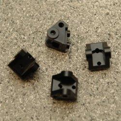 STRC CNC Machined Brass Lower Shock/Suspension Link Mount (4 pcs) Black (SCX10.2) SPTSTA31384XBR