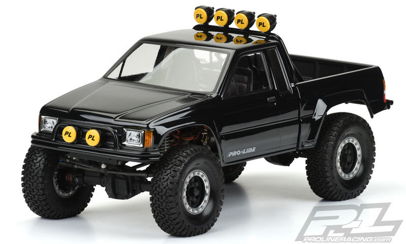 """Proline 1985 Toyota HiLux SR5 Clear Body (Cab + Bed) for 12.3"""" (313mm) Wheelbase Crawlers 3466-00"""