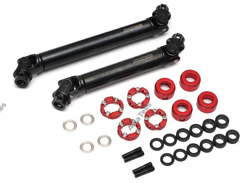 Boom Racing BADASS™ HD Steel Center Drive Shaft Set for Traxxas TRX4 D110 / Sport / Ford Front & Rear (2)