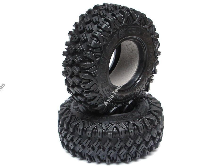 Boom Racing HUSTLER M/T Xtreme 1.9 MC1 Rock Crawling Tires 4.19x1.46 SNAIL SLIME™ Compound W/ 2-Stage Foams (Ultra Soft) 2pcs BRTR19000-US