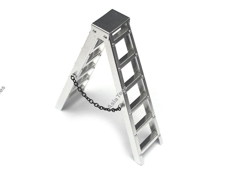 Team Raffee Co. Scale Accessories 4 Inch Aluminum Ladder 1 pc BRQ90318