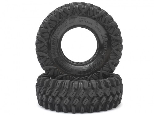 Boom Racing HUSTLER M/T Xtreme 1.9 Rock Crawling Tires 4.45x1.57 SNAIL SLIME™ Compound W/ 2-Stage Foams (Ultra Soft) 2pcs BRTR19001-US