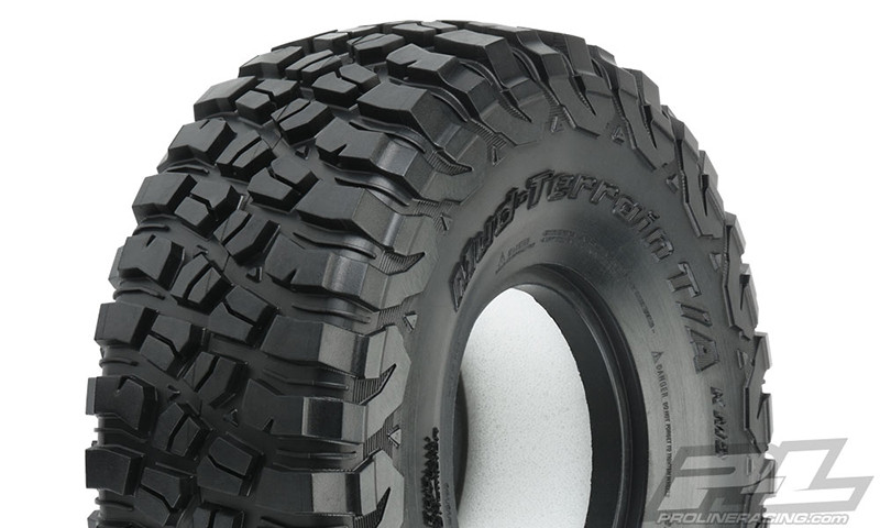 "Proline BFGoodrich Mud-Terrain T/A KM3 1.9"" Rock Terrain Truck Tires G8 Compound 4.75"" Tall"
