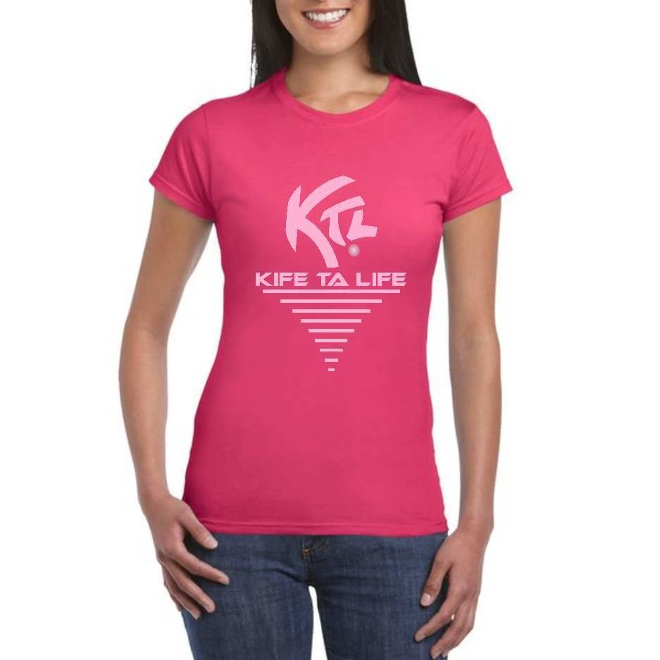 "T-shirt Rose ""Kife Ta Life"""