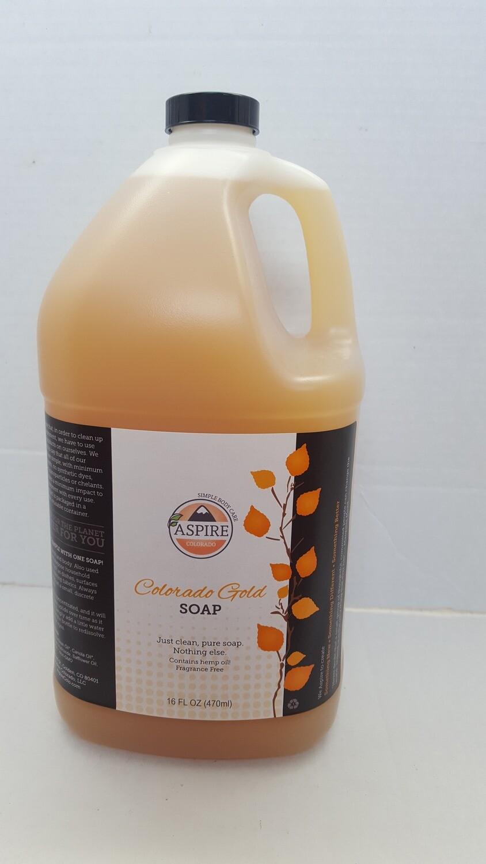 Liquid Soap - Colorado Gold Soap, 1 gal, Plastic Jug
