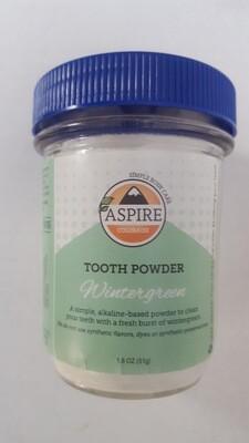 Tooth Powder - Wintergreen, Glass Bottle, 8 oz