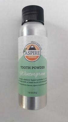 Tooth Powder - Wintergreen, Aluminum Bottle, 1.8 oz