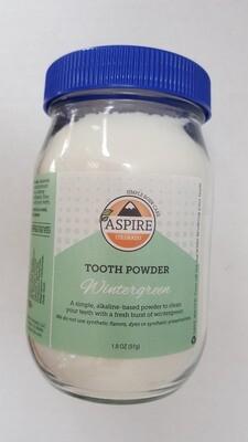 Tooth Powder - Wintergreen, Glass Bottle, 16 oz
