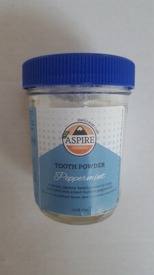Tooth Powder - Peppermint, Glass Bottle, 8 oz