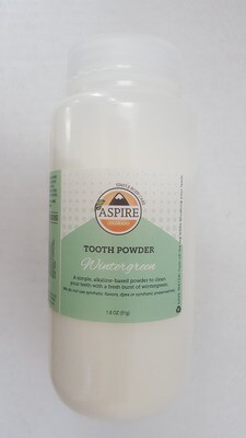 Tooth Powder - Wintergreen, Plastic Bottle, 16 oz