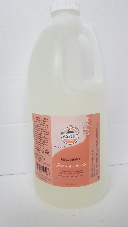 Deodorant Bulk Refill, 1/2 gal, Plastic