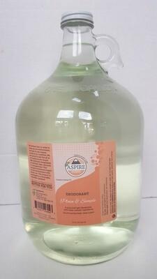 Deodorant Bulk Refill, 1 gal, Glass