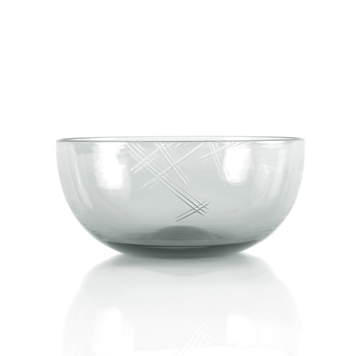 Glass Bowl with Cut Detail