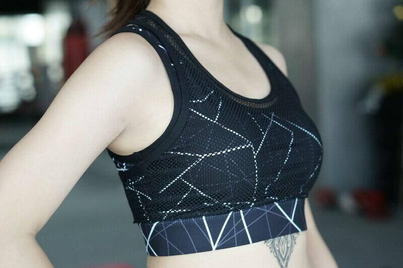 Flex Sports Bra [Geometric / Marble]