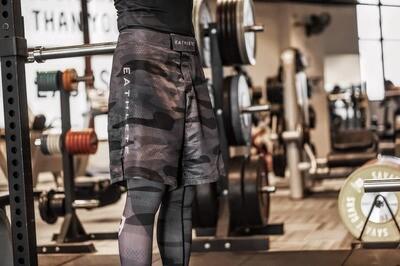 [NEW] Camo SET -Spats & Shorts