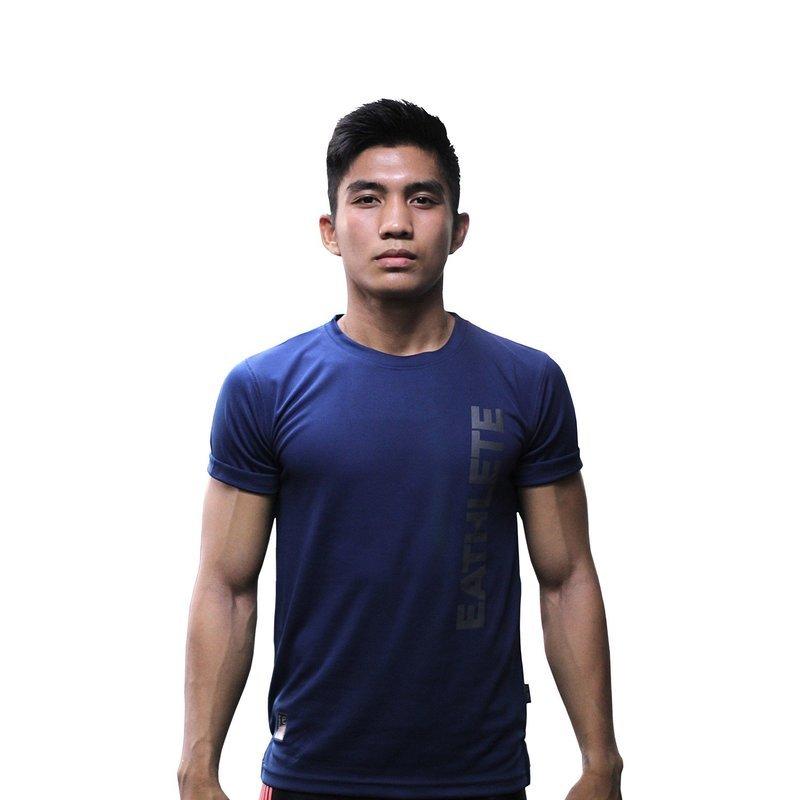 Premium Microfiber Sports T-Shirt Navy