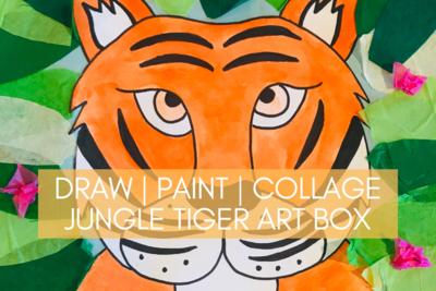 Jungle Tiger Art Box