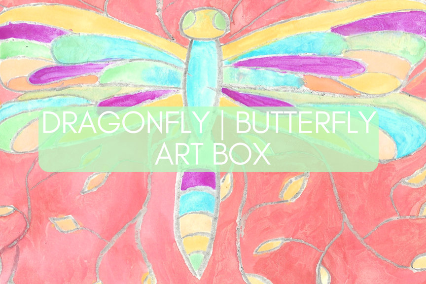 Dragonfly | Butterfly Painting Art Box