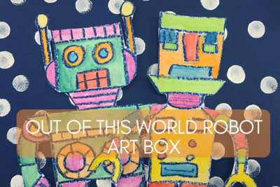 Out of this World Robot Art Box