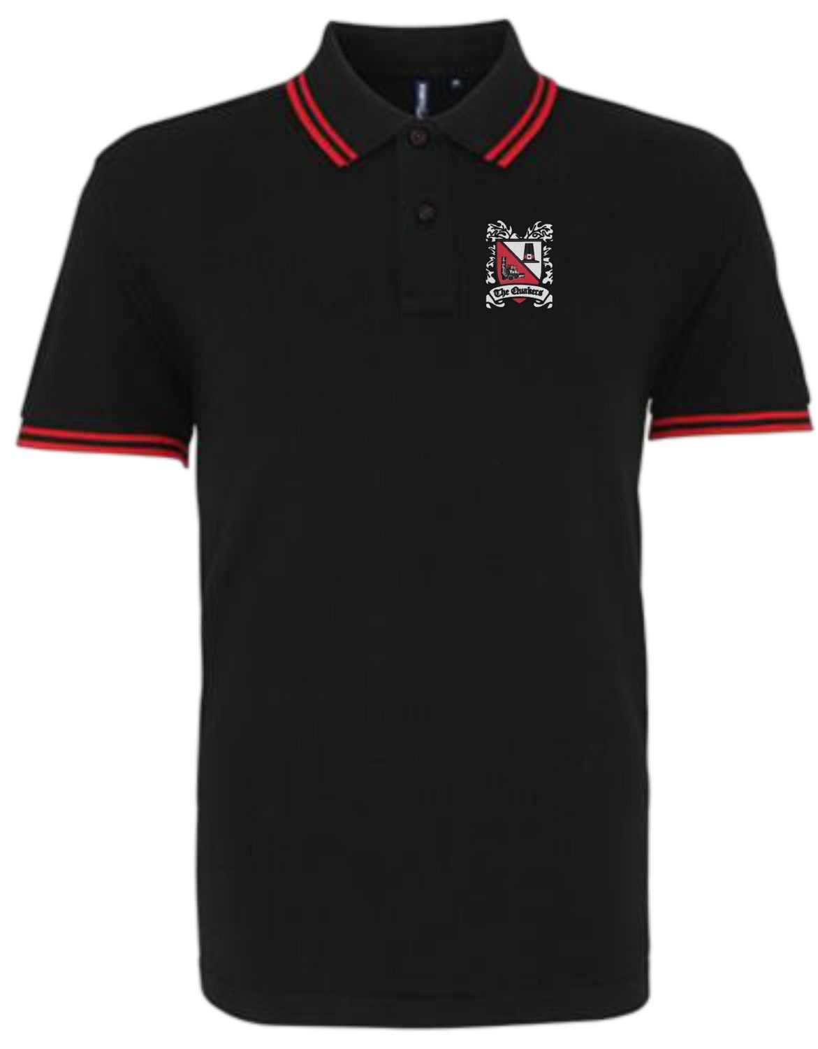 Polo Shirt - Black with Red Trim (Ordered on Request)