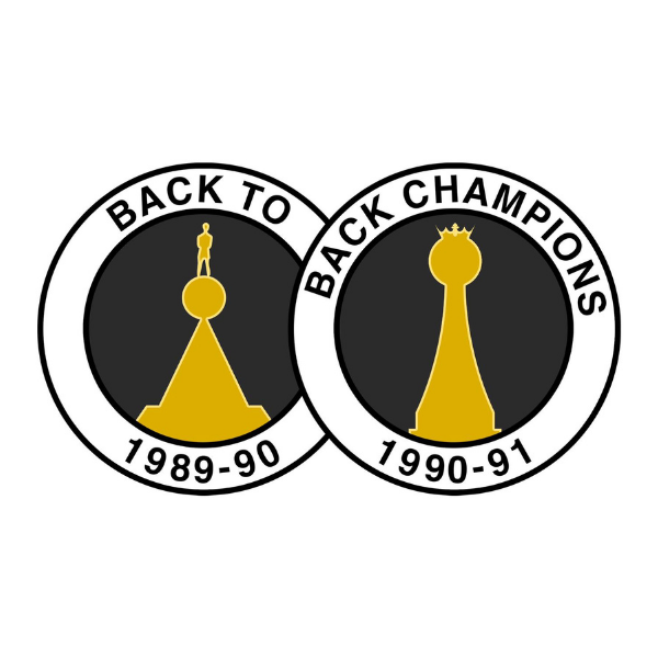 Boost The Budget 20/21 Pin Badge - Back to back champions