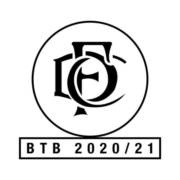 Boost The Budget 20/21 Pin Badge - 20/21 & Retro logo