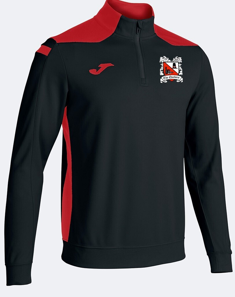 Joma Championship VI Quarter Zip Black/Red (Adult) Ordered on Request
