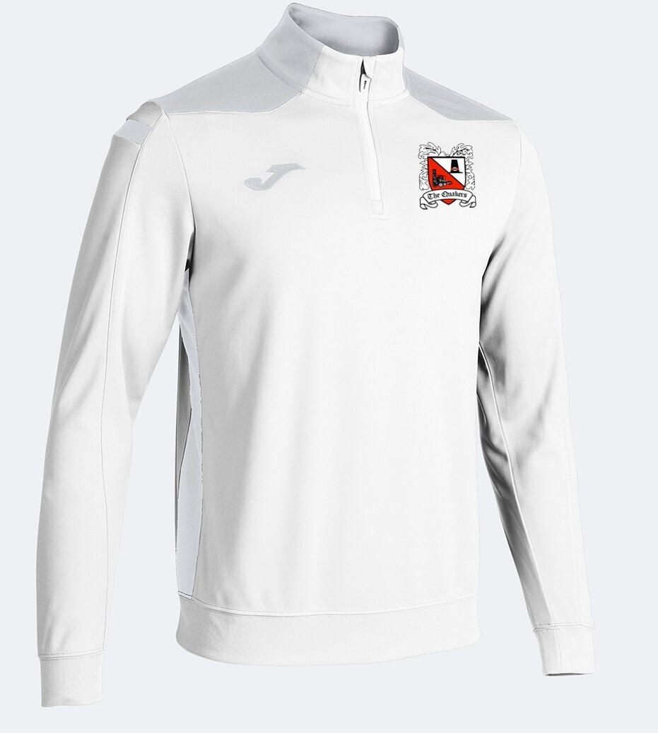 Joma Championship VI Quarter Zip White/Grey (Adult) Ordered on Request