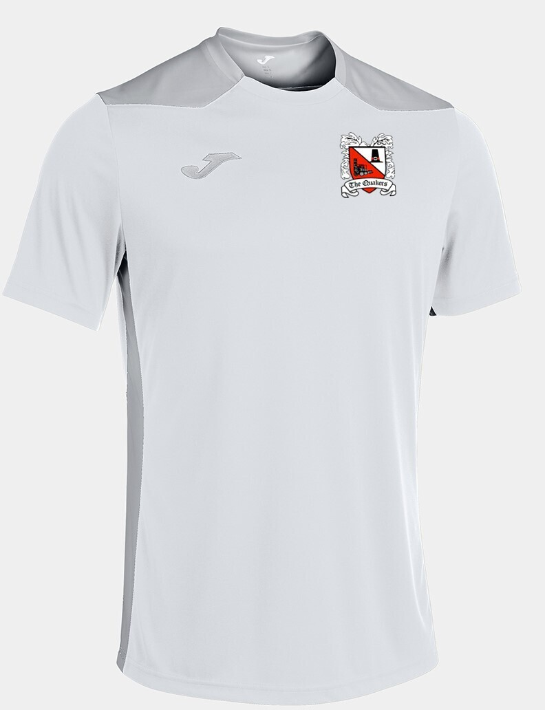 Joma Championship VI T-Shirt White/Silver (Adult) Ordered on Request