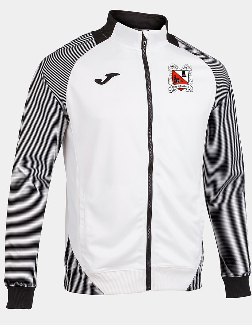 Joma Essential II Jacket White/Grey (Adult) Ordered on Request