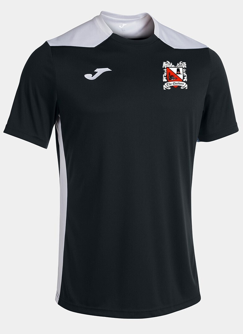 Joma Championship VI T-Shirt Black/White (Adult) Ordered on Request