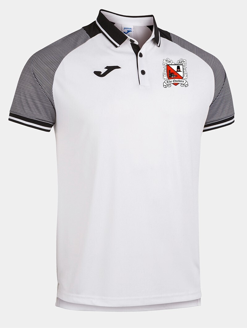 Joma Essential II Polo White/Grey (Adult) Ordered on Request