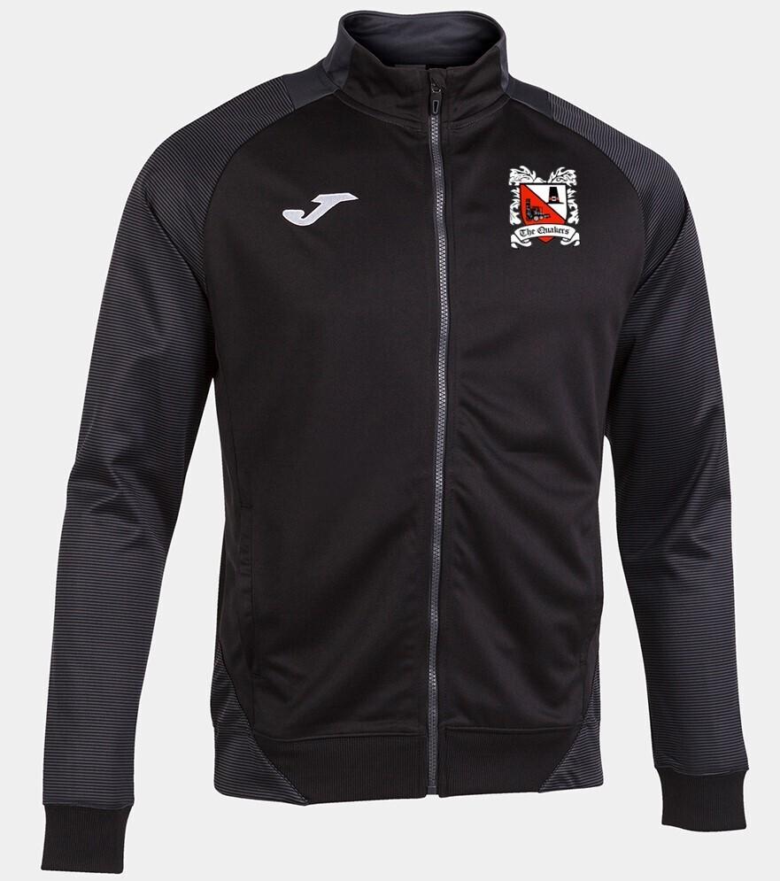 Joma Essential II Jacket Black/Anthracite (Adult) Ordered on Request