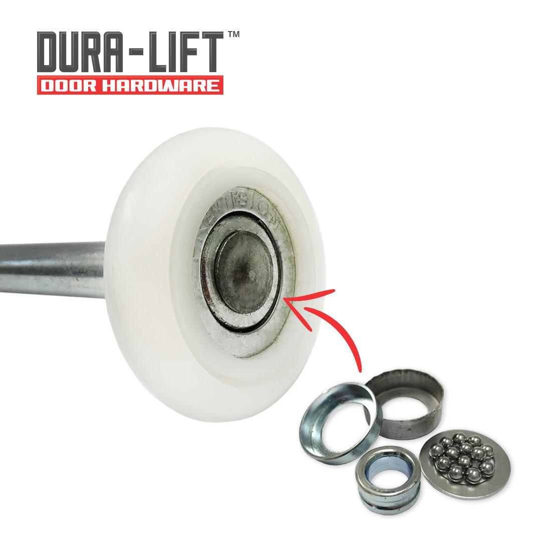 "DURA-LIFT Ultra-Quiet 2"" 13-Ball Bearing Nylon Roller (10-Pack)"