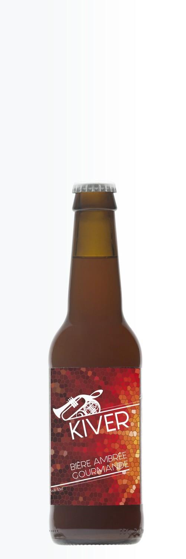 KIVER - Bière Ambrée gourmande, 33 cl