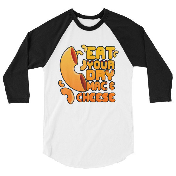 Eat Your Dry Mac & Cheese - Men's 3/4 sleeve shirt