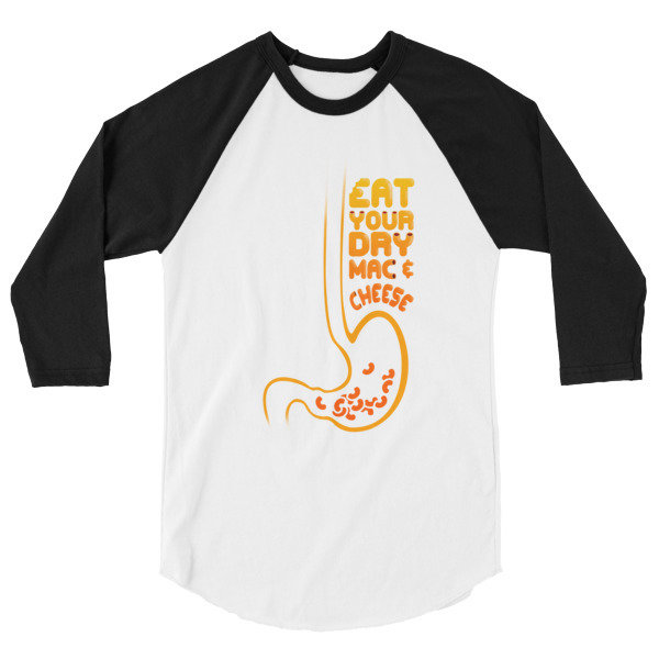 Eat Your Dry Mac & Cheese #2 - Men's 3/4 sleeve  shirt