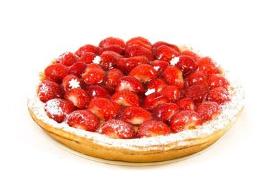 Aardbeien taart