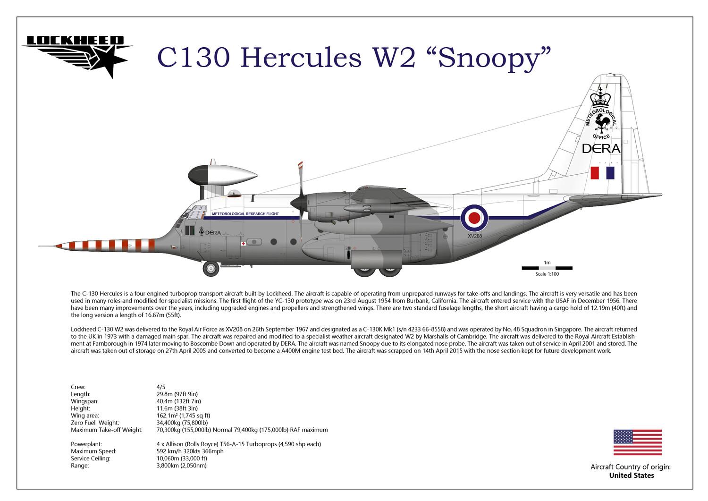 "Lockheed C130 hercules W2 ""Snoopy"" XV208"