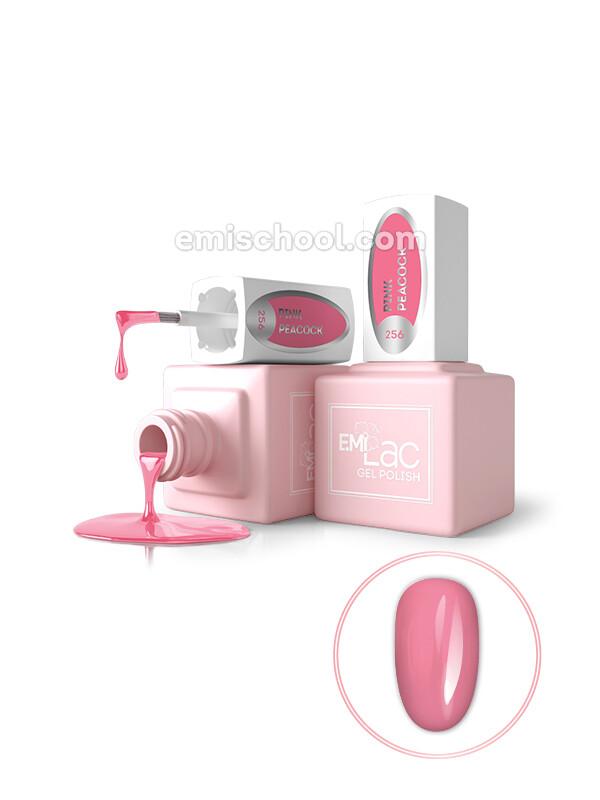 E.MiLac GL Розовый павлин №256, 6 мл.