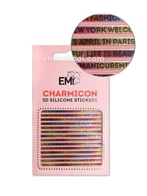 Charmicon 3D Silicone Stickers №103 Слова