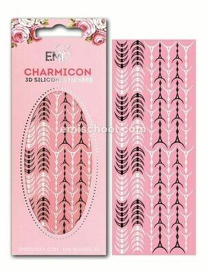 Charmicon 3D Silicone Stickers «Лунулы №34» черные/белые