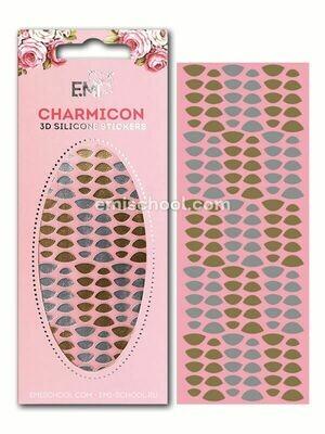 Charmicon 3D Silicone Stickers «Лунулы №7» золото/серебро